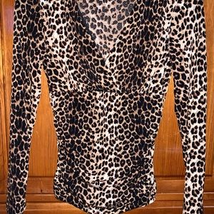 Inc international concepts leopard blouse small